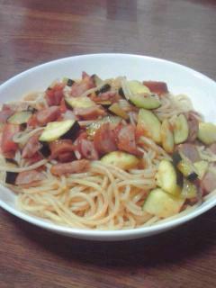 ズッキーニのスパゲッティ