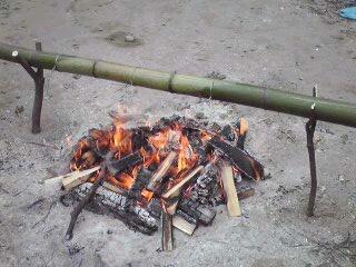 竹でパン焼き―4